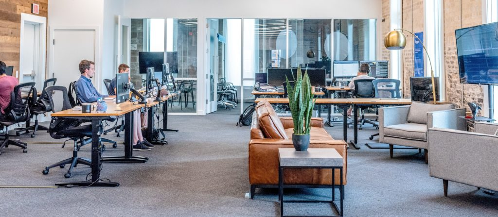 image of open concept office space